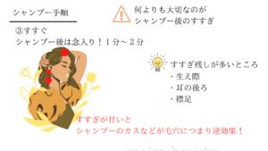 シャンプー手順3